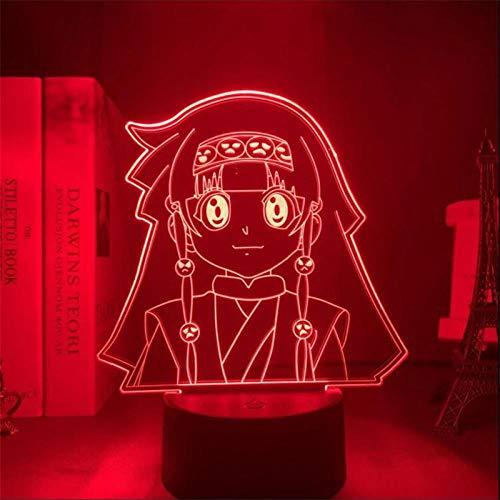 3D Nachtlichter für Kinder Anime 3D Lampe Hunter X Hunter Alluka Zoldyck Illusion Led Mädchen Doll Action Lights Visual Colorful Desk Model for Kids Bedroom Decor Gift 7 Farb-Touch