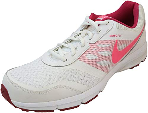 Nike Women's Air Relentless 4 White/Pink Pow/Fuchsia Ankle-High Running - 12M