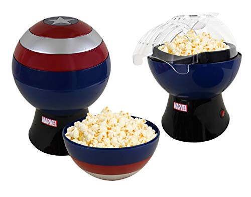 Check Out This Marvel Captain America Popcorn Maker - Hot Air Popcorn Popper with Removable Captain ...