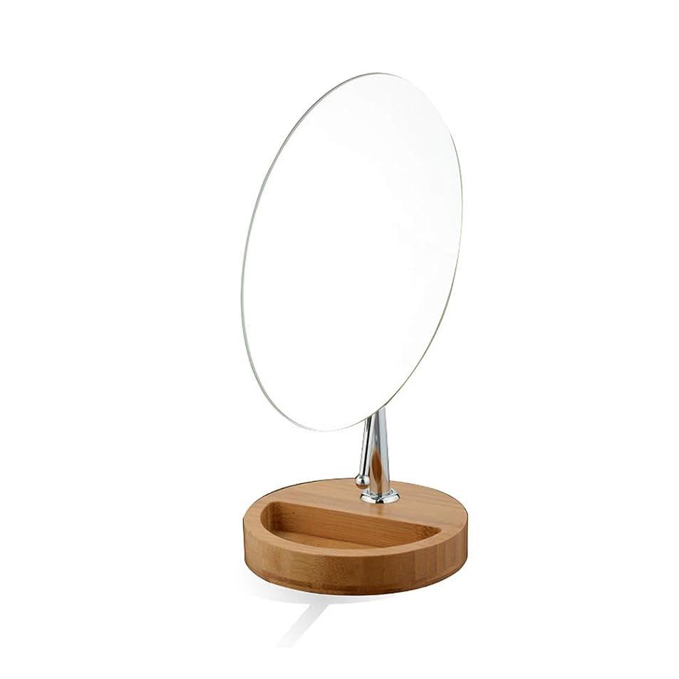 メンタル不実線形化粧鏡、片面メタル デスクトップポータブル Hdミラー 滑り止めベース