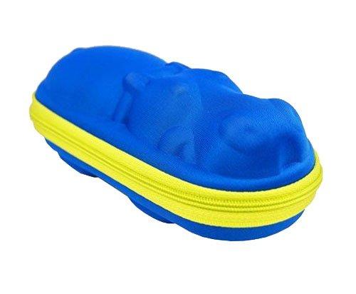 Brillenetui / Etui für Kinderbrillen in Nilpferd Form in Blau