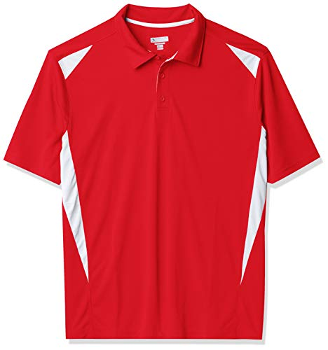Augusta Sportswear Augusta Premier Polo, Red/White, X-Large