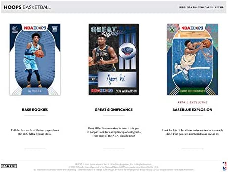 2020-21 Panini NBA HOOPS Factory Sealed 24-PACK Basketball Box w/192 Total Cards! (1 Autograph Card Per Box) - Look for LaMelo Ball Autograph Rookie Cards - Plus 2 Custom Made LaMelo Ball Basketball Card Pictured.