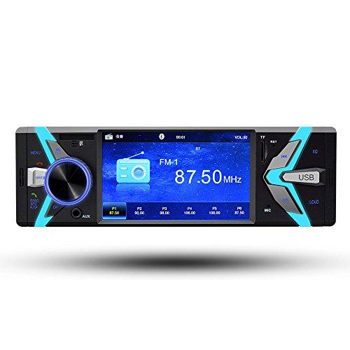 BoomBoost Autoradio Audio Stéréo MP3 Lecteur audio de voiture Bluetooth Mains Libres Télécommande USB FM 1 Din