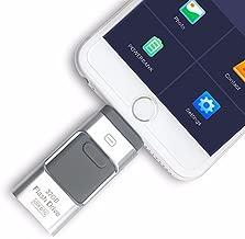 Memoria USB OTG 3 en 1, para iPhone 4, iPhone 8/7/6/6S/5/, iPad y Samsung (256.00GB)