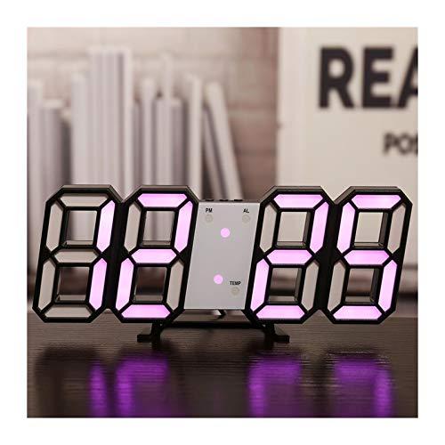 LED Digital Wandtakt Datum Temperatur automatische Hintergrundbeleuchtung Tischtisch Home Decoration Stand Hang Uhren Gartenuhr Wanduhr Uhren Kitchenuhr (Color : Wall Clock 7)