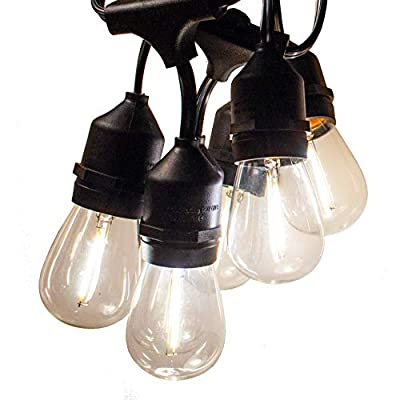 Hometown Evolution, Inc. E26 Outdoor Commercial String Lights with Suspended Socket for Weatherproof Heavy Duty Vintage Outside Lighting
