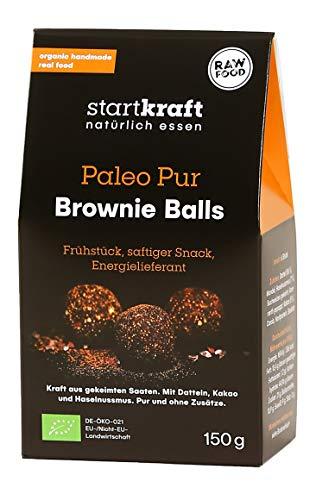 STARTKRAFT ☀ Brownie Balls 75g - Naschen OHNE Zucker, Milch oder Emulgatoren! ✔vegan ✔glutenfrei - von Ernährungswissenschaftlern entwickelt - Wissen schafft Gesundheit.