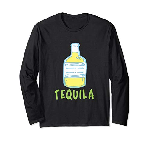 Tequila-Kalk-zusammenpassendes Paar-Halloween-Kostüm Langarmshirt