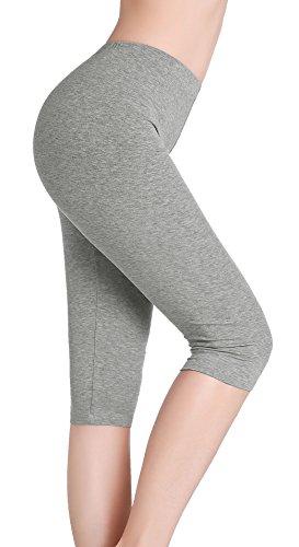 CnlanRow Damen Capri Leggings Unterrock Hose Kurz Elastisch Leicht Yoga Shorts Bequem