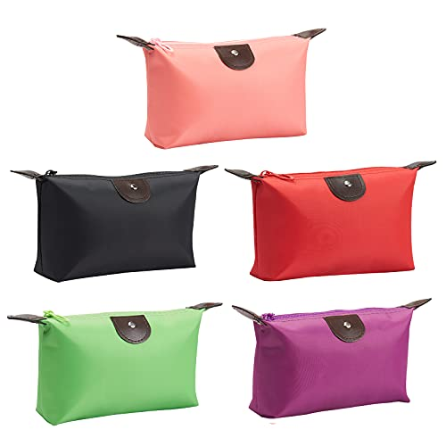 5PCS Cute Small Makeup Bags for Purse, Waterproof Mini Zipper Cosmetic Bags, Luggage Accessories for...