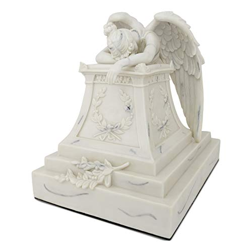 Angelo Triste Polyresin Memorial Urn For Adults