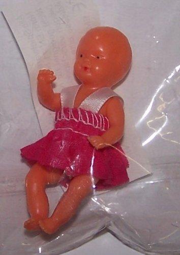 SCHWENK 11106C Mini Baby Puppe mit pinkfarbenem Kleid; 6cm
