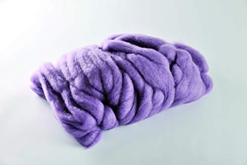 Chunky Wolle / XL Strickschlauch, 12 Farben | 100% Natur | Super Soft und Dick zum XXL Arm Stricken für Decke, Schal, Kissen, Plaid | 30-40mm x 30m | Lehner STYLIT