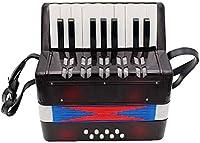 キッズアコーディオン子供アコーディオン17キーボタンアコーディオンミュージカル玩具5歳以上の子供のための子供のための子供の楽器を演奏するのは簡単な子供の頃の開発アコーディオン(色:緑、サイズ:23x10x23cm) Jialele (Color : Black, Size : 23x10x23cm)