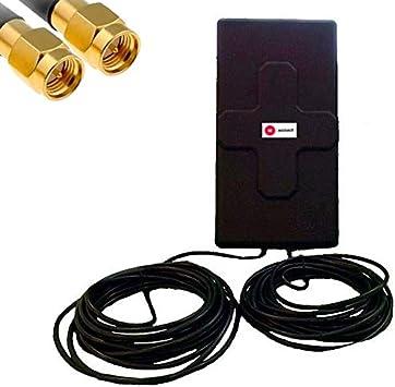 W WONECT Antena 4G 50dbi LTE UMTS 3G Exterior con Cable SMA Integrado en Antena. Alta Potencia. Largo Alcance. Mejora señal Routers 4G con conexión ...
