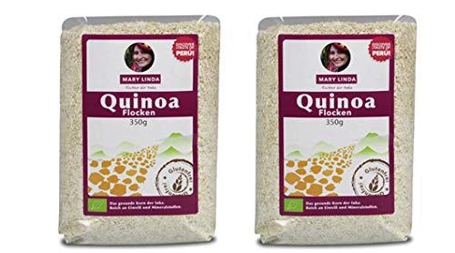 Mary Linda BIO Quinoa Flocken (zart) - glutenfrei, (2 x 350g)