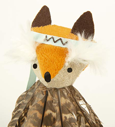 SmartyKat, Toss-a-Fox, Soft Plush Cat Toy, Interactive Toss Toy, with Full Body of Long Feathers,...