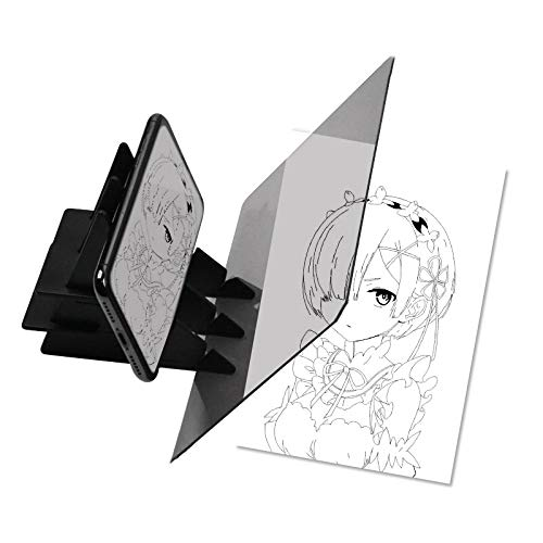 SHUNYUS Tablero de dibujo óptico, asistente de boceto de trazado tablero de dibujo proyector de pintura óptica tablero de pintura copia herramienta de dibujo para niños, adultos, principiantes