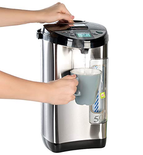 Rosenstein & Söhne Wasserkocher: Heißwasserspender, 5-Liter-Wassertank, 5 Temperaturstufen, 1.200 Watt (Wasserkocher-Spender)