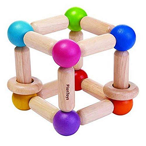 Plantoys- Square Clutching Toy, PT5245, Bois