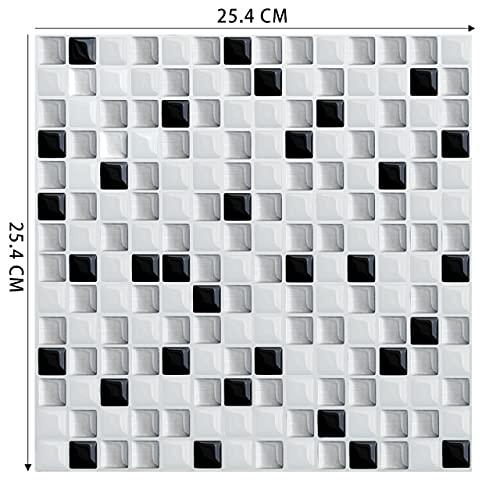 GIAMA DIY Impermeable Autoadhesivo de azulejo de Vinilo Pegatina de Pared Peel and Stick Backsplash Cocina Decoración del hogar