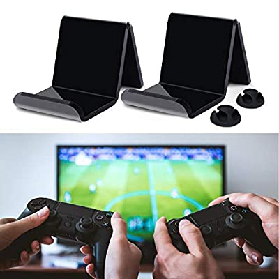 Controller Stand Holder Wall Mount, Universal Multifunction Video Game Controller for Display or Organization, Perfect for PS4/PS3/Steam/Xbox/Xbox One/PC/Switch Pro Controller - Black (2Pack)