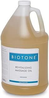 Biotone Revitalizing Massage Oil Unscented, 128 Ounces (1 Gallon)