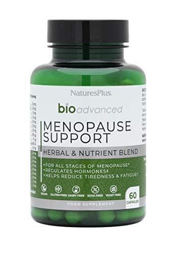 NaturesPlus BioAdvanced Menopause Support, Hormonal Comfort – D3, K2, Calcium, Magnesium, B6, Sea Buckthorn, Ashwagandha, Maca, Sage, Dong Quai. Dairy, Gluten, Yeast, SOYA Free - Vegan - 60 Capsules