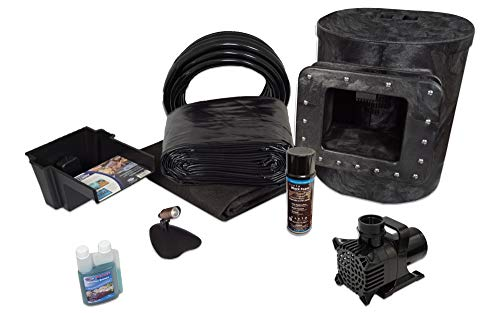 HALF OFF PONDS - Simply Ponds 1200 Water Garden and Pond Kit with 8 Foot x 10 Foot PVC Liner - PVCX8-3