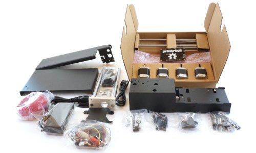 "Printrbot Metal Simple 3D Printer Kit, Black, PLA Filament, 1.75mm Ubis Hot End, 6"" x 6"" x 6"" Build Volume"