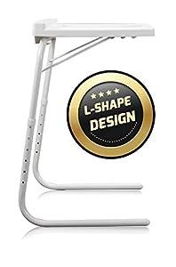 STARLYF Best Direct Table Express Visto en TV Mesa Ajustable y Plegable 52x40x8 cm con Ranura para Tableta Multifuncional para Sofá, Cama, Escritorio