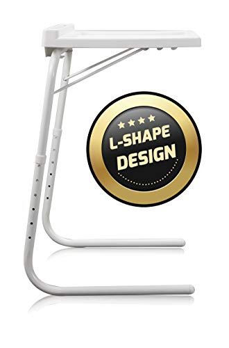 STARLYF Best Direct Table Express Visto en TV Mesa Ajustable y Plegable 52x40x8 cm con Ranura para Tableta Multifuncional para Sofá, Cama, Escritorio