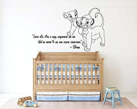 The Lion King Wall Decal Simba Lion Quote Kids Children Boys Nursery Wall Decor Bedroom lk07