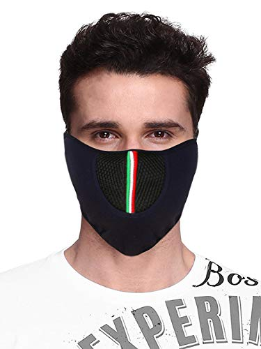 Acceptive's Fashions Bike Riding and Cycling Anti Pollution Dust Sun Protection Half Ninja Face Cover Mask,(Blue)