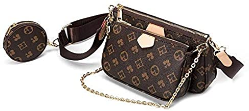 Genuine Leather Crossbody Bags Mini Purse for Women Including 3 Size Bags