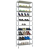 OppsDecor Shoe Rack 10 Tiers Tall Shoe Tower 30 Pairs