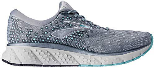 Brooks Womens Glycerin 17 Running Shoe - Grey/Aqua/Ebony - B - 9.5 4