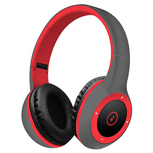 Best Shopper - T8 Stereo Bluetooth Over- Ear Headphones Wireless Folding Gaming Headset with Microphone - Red