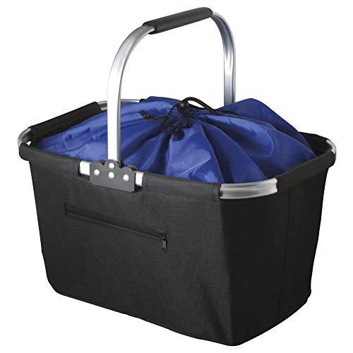 Marbrasse Einkaufstasche aus Polyester, faltbar, wiederverwendbar, verstärkte Unterseite, Picknick-Tragetasche
