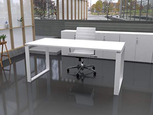 Mesa de Oficina con Estructura Cerrada, de 140x80cm. FABRICACIÓN Nacional. Entrega de 3 a 7 dias. (Tablero Blanco, Estructura Blanco)