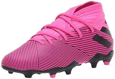 adidas Unisex-Kid's Nemeziz 19.3 Firm Ground Soccer Shoe, Shock Pink/Black/Shock Pink, 4.5 M US Big Kid
