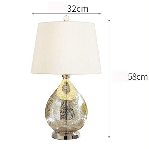 ZWL Lampe de table simple, chambre à coucher Lampe de chevet Salon Éclairage décoratif Hôtel Villa Studio Lampe Lampe de nuit Lampe à oeil de bureau Lampe de bureau Home Éclairage E27 Lights 32 * 58CM fashion.z ( Couleur : #1 )