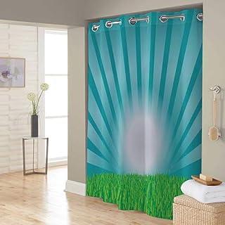 Right Canvas Blue 180cm x 200cm Shower Curtain - RG138NPIC00097