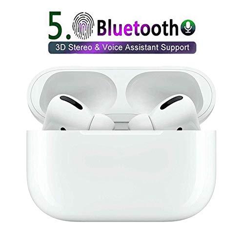 Auriculares inalámbricos Bluetooth5.0, Auriculares con cancelación de Ruido estéreo 3D, Toque Inteligente, Emparejamiento emergente automático, para Apple Airpods/Android/iPhone/Samsung