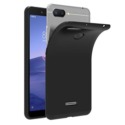 ivoler Hülle für Xiaomi Redmi 6 / Xiaomi Redmi 6A, Premium Schwarz Tasche Schutzhülle Weiche TPU Silikon Gel Schutzhülle Hülle Cover für Xiaomi Redmi 6 / Xiaomi Redmi 6A