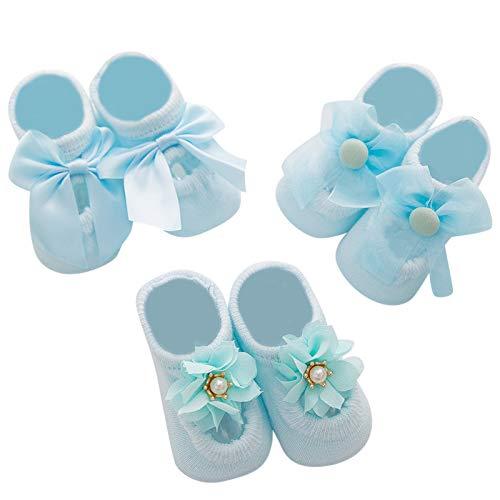 MAYOGO Calcetines Floral Antideslizante Calcetines Calientes para Niños para Niños Calcetines de Tobillo sin Cortes de corte Bajo