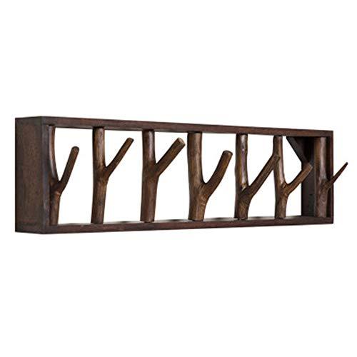 DQM Wandgarderobe Baum, Wandgarderobe aus Naturholz, zum Aufhängen von Schlüsseln, Kopfhörern, Gürteln, Rucksäcken, Roben usw. wie Holz, Fliesen für EIN ideales Zuhause, Eingangsbereich,