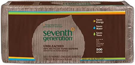 100% Recycled Single-Ply Luncheon Napkins, 11 1/2 x 12 1/2 Brown/1 Pack of 500 Napkins