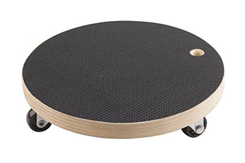 Metafranc Pflanzenroller Ø 200 mm - 100 kg Tragkraft - Siebdruckplatte - PP-Räder/Möbelroller/Untersetzer mit Rollen/Transporthilfe für Pflanzen / 822030